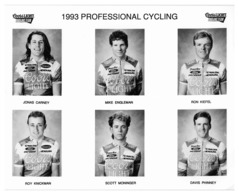 PHOTO CYCLISME TEAM COORS LIGHT 1993  6 COUREURS - Cyclisme