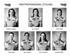 PHOTO CYCLISME TEAM COORS LIGHT 1993  7 COUREURS FORMAT 20 X 25 - Cyclisme