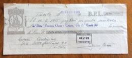 CAMBIALE   AMG FTT  LIRE SEI    TRIESTE   IN FILIGRANA  CMF 1953  CON FIRME AUTOGRAFE E TIMBRI VARI - 7. Triest
