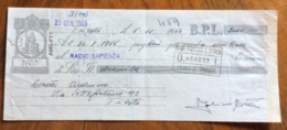 CAMBIALE   AMG FTT  LIRE DODICI    TRIESTE   IN FILIGRANA  CMF 1954  CON FIRME AUTOGRAFE E TIMBRI VARI - 7. Triest
