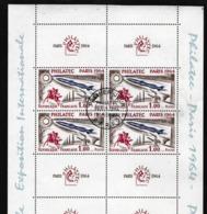 FRANCE 1964: Bloc De 8 Timbres 'Exposition Philatélique Internationale PHILATEC à Paris' Oblitéré PJ, Forte Cote - Philatelic Exhibitions