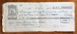 CAMBIALE   AMG FTT  LIRE  TRENTASEI  TRIESTE   IN FILIGRANA  CMF 1953 CON UNITO  ATTO DI PROTESTO - 7. Triest