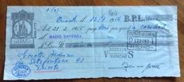 CAMBIALE   AMG FTT  LIRE  TRENTASEI  TRIESTE   IN FILIGRANA  CMF 1953 CON VARIE FIRME E TIMBRI - 7. Triest