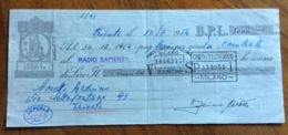 CAMBIALE   AMG FTT  LIRE  DICIOTTO  TRIESTE   IN FILIGRANA  CMF 1953 CON VARIE FIRME E TIMBRI - 7. Triest
