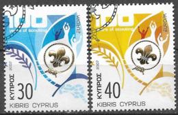 2007  Zypern Mi. 1096-7    Used  Europa Pfadfinder - 2007