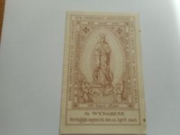 DEVOTIE-O.L.V. VOOR JONGE DOCHTERS TE WINGENE - Religion & Esotérisme