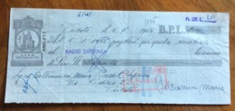 CAMBIALE   AMG FTT  LIRE  VENTIQUATTRO  TRIESTE   IN FILIGRANA  CMF 1953 CON VARIE FIRME E TIMBRI - 7. Triest