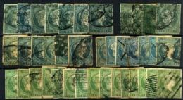 Antillas Española Nº 1/2, 4, 7/8. Años 1855/7 - España