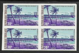 TOGO 1974 YT 805 ND** BLOC DE 4 - NON DENTELE - IMPERF MNH - Togo (1960-...)