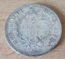 France - Monnaie 5 Francs Hercule 1873 A En Argent - SUP - Achat Immédiat - J. 5 Francs
