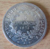 France - Monnaie 5 Francs Hercule 1875 A En Argent - SUP - Achat Immédiat - J. 5 Francs