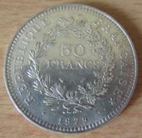France - Monnaie 50 Francs Hercule 1979 En Argent - SUP - Achat Immédiat - M. 50 Francs