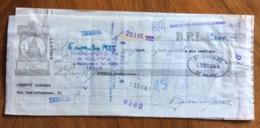 CAMBIALE   AMG FTT  LIRE  SEI TRIESTE   IN FILIGRANA  CMF 1953 CON VARIE FIRME E TIMBRI ED ALLEGATO ATTO DI PROTESTO - 7. Triest