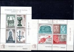 España H.B. 2252-53 Orfebrería, Serie Completa En Nuevo. - Blocs & Hojas