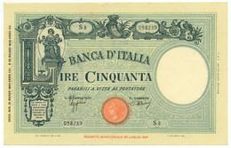50 LIRE BARBETTI GRANDE L MODIFICATO SENZA MATRICE FASCIO 31/03/1943 QFDS - [ 1] …-1946 : Koninkrijk