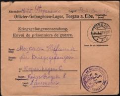 Germany - POW. Kriegsgefangene Sendung, Offiziers Gefangenenlager Torgau Nach Kopenhagen C. 31.5.1917. - Allemagne