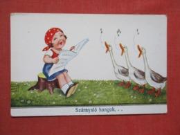 Girl With Singing Ducks Szarnyalo Hangok  Ref   3653 - Humour