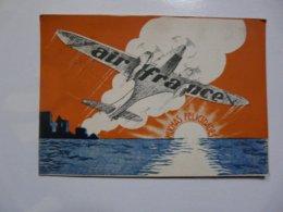 CPA SANTIAGO : AIR FRANCE - World