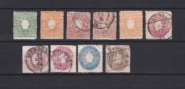 Sachsen - 1863/67 - Michel Nr. 14/18 - Gest./Ungebr. - Sachsen