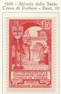 PIA  - FRAN : 1952 : Abbazia Di Santa Croce  Di Poitiers  - (Yv 926) - Abadías Y Monasterios
