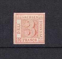 Sachsen - 1850 - Michel Nr. 1 - Ungebr. - Neudruck - Sachsen