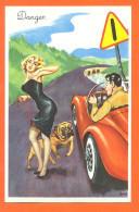 """Carriére Louis """" Danger """" Voiture Cabriolet - Pin-up - Bulldog - FJC1 - Carrière, Louis"""