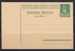 Yugoslavia 1945 Marshal Tito, Postal Stationery, Not Traveled - Ganzsachen