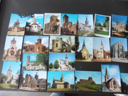 LOT  DE 300 CARTES  POSTALES  D  EGLISES - Cartes Postales