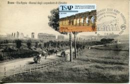 47632 Italia, Maximum 2019 Archeological Roman Aqueduct Of Claudius,roma -roman Aqueduc Claudius,vintage Card - Cartas Máxima