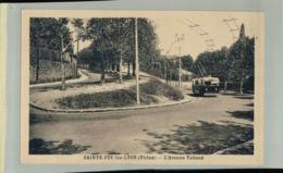 CPA 69   SAINTE FOY LES LYON L'Avenue Valioud   Transport  CAR  AVEC TROLLEY 2019 Oct Chri 049 - Francia