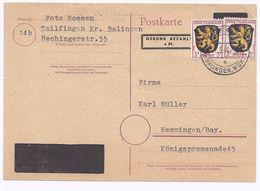 1946, 6 Pf DR Aufbrauchs Ganzsache M. Überdruck U. 6 F. V. Thailfingen. #1674 - Zona Francesa