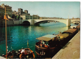 LYON - La Saône - Le Pont De Tilsitt - Péniche - Autres