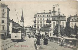 ZURICH - Sihlbrücke (tram Gros Plan) 1907 - ZH Zurich