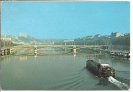 LYON - Le Rhône - Pont Lafayette - Péniche - Autres