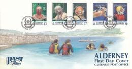FDC ALDERNEY 116-120 - Tauchen