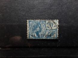 BELGIQUE,  Timbres Fiscaux, FISCAL ALBERT 20 F Bleu / Bleu Gris Obl Btb - Revenue Stamps