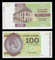 GABRIS 100 Numismas, Fantasy, RRRR, UNC, Ca. 146 X 80 Mm, Essay, Typ NM,, UV, 2015 - Norwegen