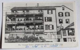 CPA Nantucket Harbor The Overlook Hotel The Veranda House In A 1880's View - Nantucket