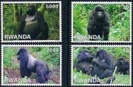 Rwanda Gorillas 2010  COB 1424/27 MNH-postfris-neuf - Rwanda