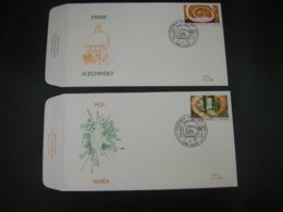 "BELG.1995 2602 & 2603 FDC (Aalst) : "" Série Artistique , Werken Van Pierre Alechinsky & Pol Mara "" - FDC"