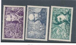 FRANCE - N°YT 908/10 NEUFS** SANS CHARNIERE - COTE YT : 3€ - 1951 - France