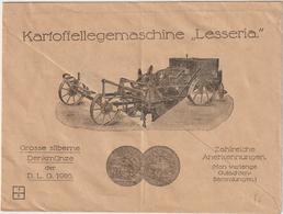 """Infla-Reklameumschlag: """"Kartoffellegemaschine Lesseria"""" - Deutschland"""
