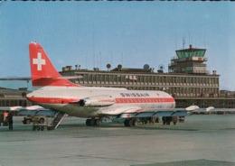 Aviation, Aéroport Genève Cointrin, Caravelle De Swissair (2992) 10x15 - 1946-....: Modern Era