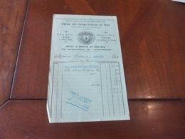 FACTURE HUILE D'OLIVE SUPERIEUR UNION DES PROPRIETAIRES DE NICE DEPOT 52 GRANDE RUE ASNIERES 29/01/ 1907 - France