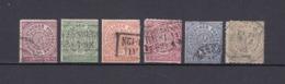 Norddeutscher Postbezirk - 1868 - Michel Nr. 1/6 - Gest. - 45 Euro - Norddeutscher Postbezirk