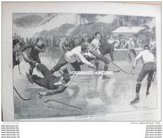 1902 LE HOCKEY SUR GLACE - ECOLE DE CAVALERIE DE SAUMUR - LE SALON DE 1902 - PNEU CONTINENTAL - Libros, Revistas, Cómics