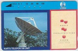 Indonesien - IND 314 WORLD IN. FORUM ASIA  1 - Satelitestation - 100 UNITS - Indonesië
