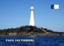 Azores Formigas Islets Lighthouse New Postcard Azoren Leuchtturm AK - Phares