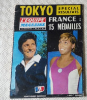 Eb6.- Olympiades Jeux Olympiques Tokyo 1964 Palmares Complet Caron Dupureur Jazy Texereau - Unclassified