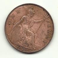1921 - Gran Bretagna 1 Penny - 1902-1971 : Monete Post-Vittoriane